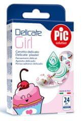 PIC Delicate Girl antibakterijski obliž, M, 24 kosov