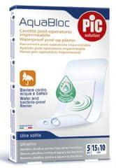 PIC Aquabloc antibakterijski pooperativni obliž, 15 x 10 cm, 5 kosov