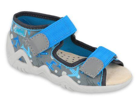 Befado Snake 350P007 fantovski sandali, 18, sivi