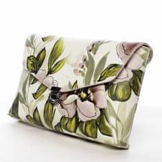 DIANA & CO Dámské květované koženkové psaníčko Romantic, béžové