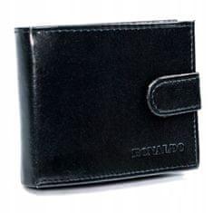 RONALDO Stylová pánská kožená peněženka Rolado, černá