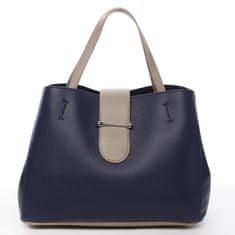 DIANA & CO Elegantní dámská koženková kabelka Aida, modrá