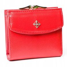 MILANO DESIGN Krásná malá koženková peněženka Světlana, červená