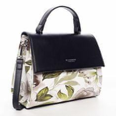 DIANA & CO Moderní dámská květovaná kabelka Lilly Ann, černá