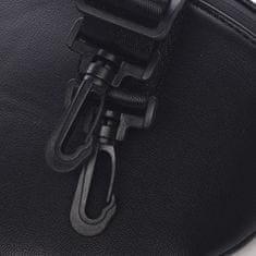 DIANA & CO Menší sportovní crossbody koženková kabelka Sanaj, černá