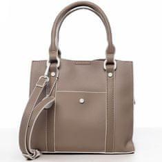 DIANA & CO Elegantní dámská koženková kabelka Rianna,béžová