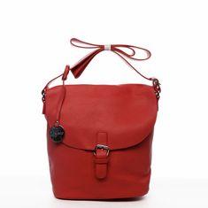 DIANA & CO Moderní dámská koženková crossbody kabelka Sunny day, červená