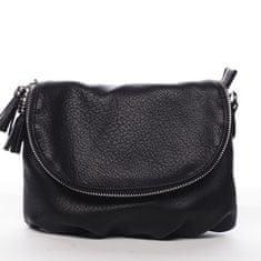 DIANA & CO Menší moderní koženková kabelka Mia Si, černá