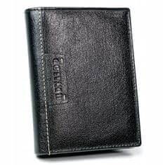 RONALDO Praktická pánská kožená peněženka Historic, černá