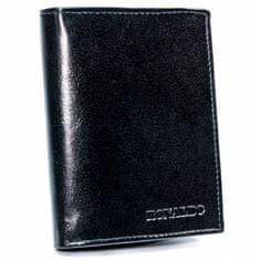 RONALDO Moderní pánská kožená peněženka Ernest, černá