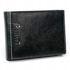 RONALDO Praktická pánská kožená peněženka Him, černá