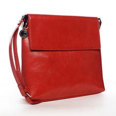 DIANA & CO Moderní dámská koženková crossbody kabelka Simonah, červená