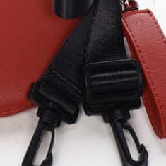 DIANA & CO Menší sportovní crossbody koženková kabelka Sanaj, červená