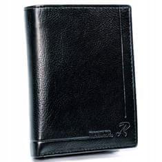 RONALDO Moderní pánská kožená peněženka Peréz, černá