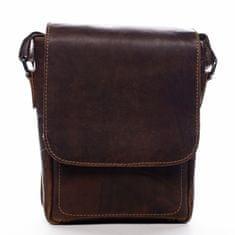 Green Wood Stylová pánská kožená taška Killian Green Wood hnědá