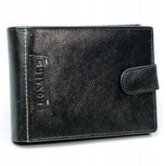 RONALDO Menší pánská kožená peněženka Benji, černá