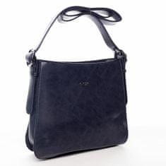 DIANA & CO Moderní italská crossbody kabelka Dianas, modrá