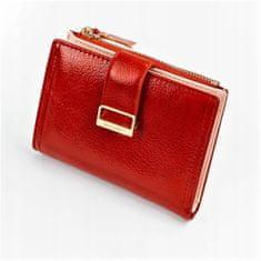 MILANO DESIGN Menší koženková peněženka Redish, červená
