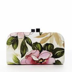DIANA & CO Romantická společenská kabelka Flower bride, růžová
