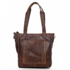 Green Wood Módní praktická dámská kožená taška Constantin Green Wood hnědá