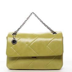 DIANA & CO Elegantní dámská koženková kabelka Irinas, žlutá