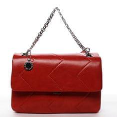 DIANA & CO Elegantní dámská koženková kabelka Irinas, červená