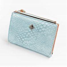 MILANO DESIGN Dámská koženková peněženka Lucinda, modrá