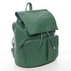 DIANA & CO Designový dámský koženkový batoh Ilijana, zelený
