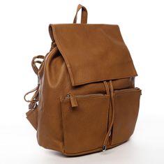 DIANA & CO Designový dámský koženkový batoh Ilijana, hnědý
