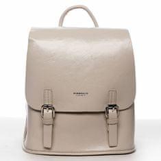 DIANA & CO Městský dámský koženkový batoh Spring light, béžový