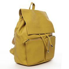 DIANA & CO Designový dámský koženkový batoh Ilijana, žlutý