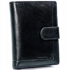 RONALDO Kožená pánská peněženka BAZYLI, černá