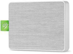 Seagate dysk zewnętrzny Ultra Touch SSD 500 GB, biały (STJW500400)
