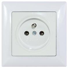 E2 elektro Visage2 zásuvka ČSN bílá
