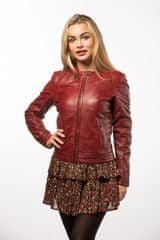 Gipsy Červená kožená bunda CHENNY