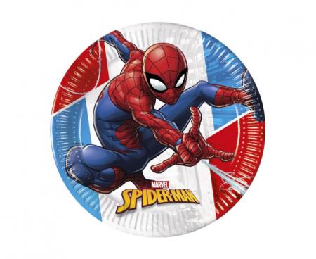 """GoDan Plošče za enkratno uporabo EKO """"Spiderman - Super Hero"""" 23 cm - 8 kos"""