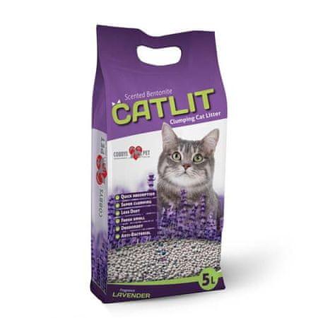 CATLIT 5l/4kg csomósodó macskaalom levendulával macskáknak