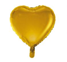 "GoDan Fóliový balón 18"" Zlaté srdce"