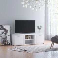 shumee TV skrinka, biela 120x34x37 cm, drevotrieska