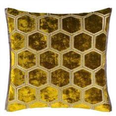 Designers Guild Dekorační polštář MANIPUR 43 x 43 cm, ochre