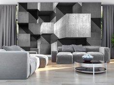 Murando DeLuxe 3D tapeta betonové kvádry Rozměry (š x v) a Typ: 400x280 cm - vliesové