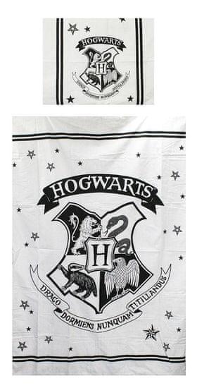"""SETINO Bavlnené obliečky Harry Potter """"HOGWARTS"""" - biela 140x200, 70x90"""