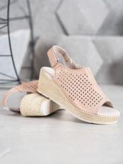 Filippo kožené sandálky na suchý zip