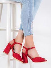Filippo Červené sandálky na sloupku