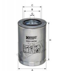 Hengst Filter Palivovy filtr / plast H201WDK