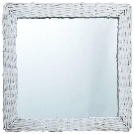 shumee fehér fonott vesszőkeretes tükör 60 x 60 cm