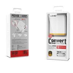 LDNIO Komplet adapter A2502Q 220v 2x USB 1x QC 3.0 1x 2,4A + USB C kabel