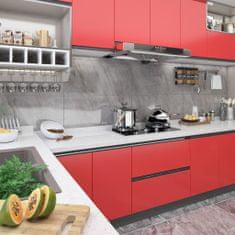 shumee Samolepící tapeta na nábytek červená 500 x 90 cm PVC