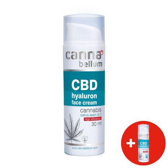 Cannabellum CBD pleťový krém s kyselinou hyaluronovou 30 ml + ZDARMA CBD čistící gel na ruce 50 ml
