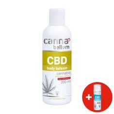 Cannabellum CBD tělový balzám 200 ml + ZDARMA CBD čistící gel na ruce 50 ml